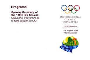 Programa - Opening Ceremony of the 129th IOC Session